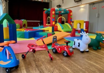 Soft play set up. £60 without the toddler bouncy castle and £80 with.