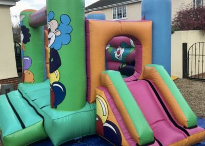 Clown bounce & slide combo. £80 or collect yourself and return after you event for £55.